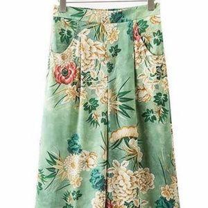Pants - Cynthia Rowley Vintage Shangri-la Floral Pants